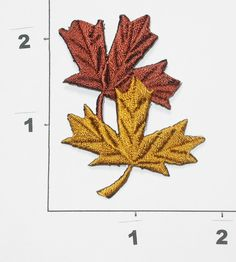 PATCHWORK PANDA LLC - Iron On Patch Applique - Field Maple Leaf Duo, $0.75 (http://www.patchworkpandatrims.com/iron-on-patch-applique-field-maple-leaf-duo/)
