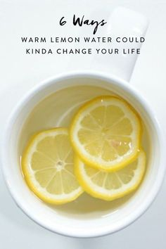 Wake up and smell the citrus. The benefits of drinking hot water and lemon!