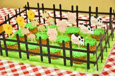 DELUXE Farm/Barnyard Cupcake Toppers for Birthdays, Parties, and Showers-Set of 10- READY to SHIP. $8.00, via Etsy.