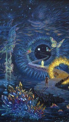 Psychedelic Preacher — psyhaven: Artwork by Tuco Amalfi Art And Illustration, Art Inspo, Art Visionnaire, Hippie Art, Dope Art, Visionary Art, Surreal Art, Aesthetic Art, Amazing Art