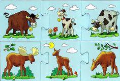 schiwotnie i detönischi-puzzle - Aleiga V. Young Life, Farm Theme, Life Cycles, Book Illustration, Illustrations, Farm Animals, Montessori, Scooby Doo, Moose Art