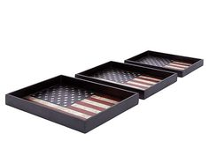 American Flag Trays
