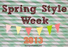 Spring Style Week all this week at Goat & Lulu! www.goatandlulu.blogspot.com