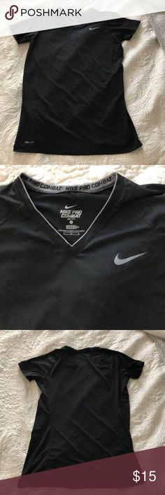 f66a232e1a3bb Nike pro combat fitted top Size large. Black. In good condition!!! Nike Tops  Tees - Short Sleeve