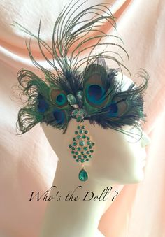 1920s headband/Peacock headband/Julieta/Art Deco by WhostheDoll