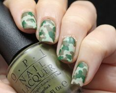 Camo Nail Art & OPI Did You 'Ear About Van Gogh
