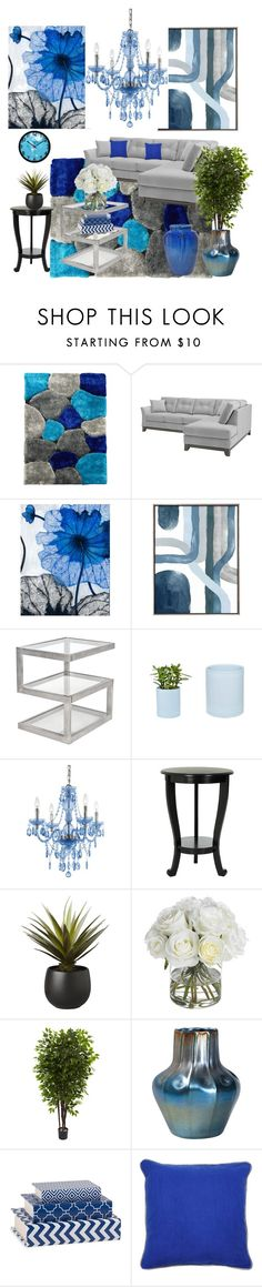 """""""Untitled #411"""" by kotnourka on Polyvore featuring interior, interiors, interior design, home, home decor, interior decorating, DonnieAnn, Grandin Road, AF Lighting and Safavieh"""