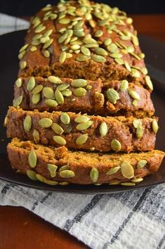 This Starbucks pumpkin bread tastes exactly like the one from Starbucks! This bread is so moist and easy to make, it will be my new go-to breakfast! Starbucks Pumpkin Pound Cake Recipe, Starbucks Pumpkin Bread, Pumpkin Loaf, Pumpkin Cake Recipes, Pumpkin Carving, Pistachio Bread, Cooking Bread, Sweet Bread, Healthy Baking