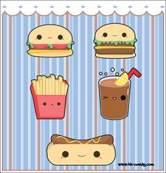 Okay, so fast food doesn't exactly have the reputation of being healthy for you, but look how adorable these Kawaii style cartoon characters are! Sorry, but we refuse to believe the lies. There's n...