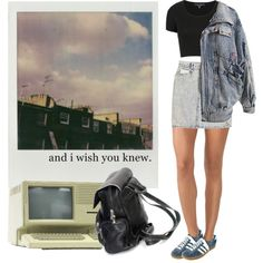 and i wish you knew by hanye on Polyvore featuring Topshop, SOLD Design Lab, Wolford, adidas and Polaroid