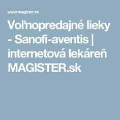 Voľnopredajné lieky  - Sanofi-aventis | internetová lekáreň MAGISTER.sk