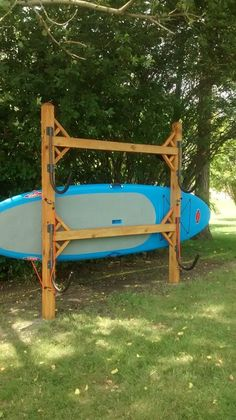 Building An Outdoor Boat Rack Camping Kayak Rack