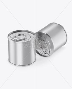 Two Tin Cans With Metal Rim Mockup