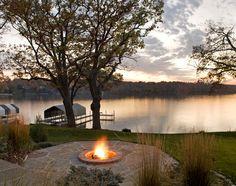 fire pit & lake view <3