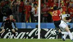Spain 2 Greece 1 in 2008 in Salzburg. Ruben de la Red scores on 61 minutes in Group D to make it 1-1 at Euro 2008.