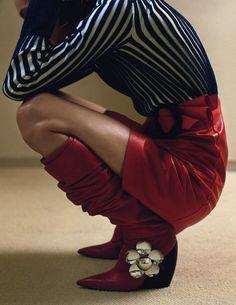 Karolin Wolter by Zoe Ghertner for Vogue UK, August 2015.