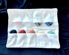 9 stones in a protective cloth case. Great for Chakra meditation. Chakra Meditation, Chakra Stones, Natural Healing, Stones And Crystals, Joy, Smile, Quotes, Quotations, Qoutes
