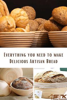 Artisan Bread Recipes, Bread Bags, Book Markers, Baking Set, Dough Bowl, Sourdough Bread, Pretzels, Tortillas, Easy Cooking