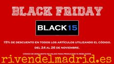 """¡Último día! ¡Last day! Durante todo el día de hoy tendremos un 15% de #descuento en nuestra web utilizando el codigo """"BLACK15"""". #blackfriday #viernesnegro #rivendelmadrid #descuentos #ofertas #offers #promocionespecial  #madrid #benitogutierrez4 www.rivendelmadrid.es"""
