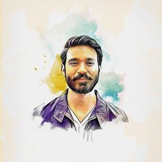 danush hair style happy wedding anniversary to dhanush and aishwarya elder 5172 | fc2299a8f4251d5b231335bb1b2b89f6 paintings