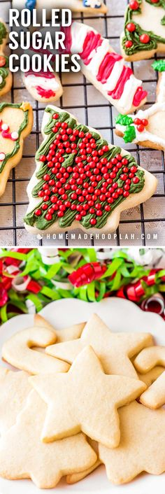 These rolled sugar cookies have a perfectly light & airy texture with a delicate buttery taste. They're the best sugar cookie for decorating! Rolled Sugar Cookie Recipe, Best Sugar Cookies, Easy Cookie Recipes, Sugar Cookies Recipe, Sweets Recipes, Holiday Snacks, Christmas Desserts, Christmas Treats, Christmas Baking