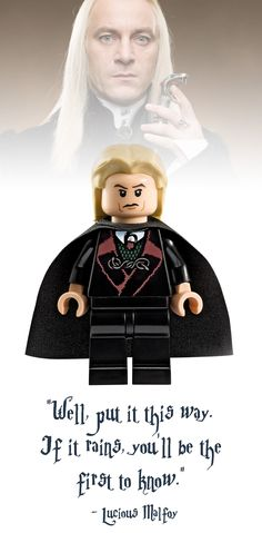 Lucious Malfoy Lego Minifigure - Harry Potter Collectibles