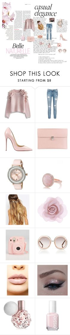 """Casual Elegance"" by erinahara ❤ liked on Polyvore featuring Chicwish, Current/Elliott, Christian Louboutin, Alexander McQueen, Ted Baker, Oasis, Johnny Loves Rosie, Accessorize, Chloé and LASplash"