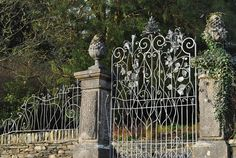 Bespoke wrought iron gates for a Georgian Manor House in Cumbria