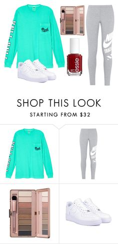 """Untitled #13"" by aly267 on Polyvore featuring Victoria's Secret, NIKE and Essie"