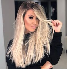 Fantastic ideas of long blonde hair colors and for women and girls in year If you existing looks of long hair but can't find still the best hair color shades then you must try the beautiful blonde hair colors to show off in Hair Color Shades, Ombre Hair Color, Blonde Color, Cool Hair Color, Blonde Hair Shades, Beautiful Blonde Hair, Blonde Hair Looks, Brown Blonde Hair, Black Hair