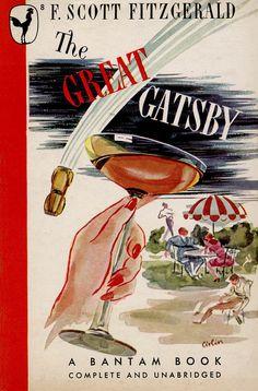 F. Scott Fitzgerald, The Great Gatsby, Bantam Books, 1945. Cover art by Edgard Cirlin.