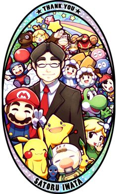 Me haces falta Satoru Iwata, tambien Nintendo Nintendo Game, Nintendo World, Nintendo Characters, Video Game Characters, Super Mario Brothers, Super Mario Bros, Super Smash Bros, Zelda, Video Game Art