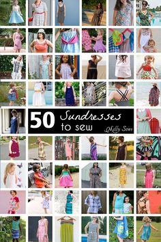 So many pretty sundress tutorials for women, girls and babies - some with free sewing patterns! Great round up from Melly Sews
