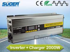 Suoer Digital Display DC AC Inverter 2000VA Inverter with Charger