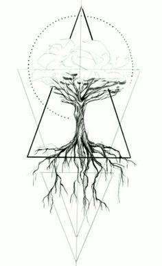 2017 trend Geometric Tattoo - tree, geometric tattoo designs ideas männer männer ideen old school quotes sketches Geometric Tattoo Tree, Geometric Trees, Tattoo Abstract, Geometric Tattoo Design, Geometric Sleeve, Geometric Tattoo Drawings, Geometric Lion, Mandala Tattoo, Life Tattoos