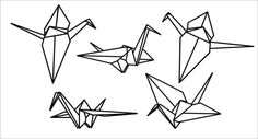 Origami Crane Vinyl Wall Decals by RadRaspberry on Etsy