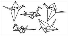 Origami-Kranich-Vinyl-Wandtattoo von RadRaspberry auf Etsy