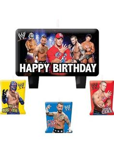 WWE Molded Cake Candle Set Party Accessory - List price: $4.44 Price: $3.70 Saving: $0.74 (17%)