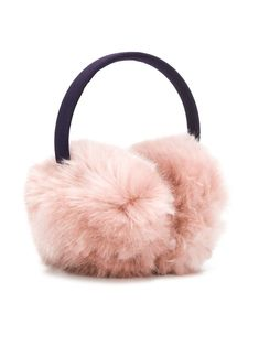 Skin Leather Abstract Design Winter Earmuffs Ear Warmers Faux Fur Foldable Plush Outdoor Gift