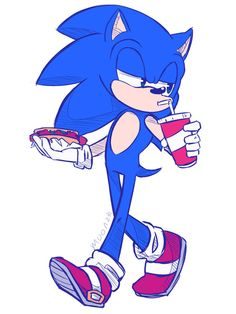 Marshi: SONIC, You are going to die of cancer! *throws lettuce muffins at him* .[fast food by MOON231 on DeviantArt IMH]