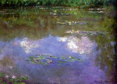 my-water-lilies:  Water lilies, The clouds; Claude Monet.
