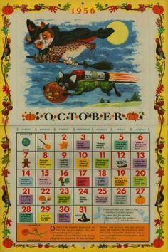 October Richard Scarry Calendar from 1956