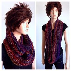 Isaac Mizrahi Hand Knitted Infinity Scarf in by Africancrab