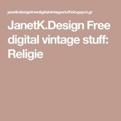JanetK.Design Free digital vintage stuff: Religie