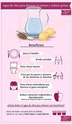 #Nutrición: Conoce los beneficios de beber agua con semillas de chía.