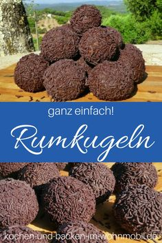 Rum balls: the best, the simplest, the most delicious! ›Cook-and-backen-im-wohnmobil.de - Just make rum balls out of cake or biscuit leftovers yourself! Just make rum balls out o - Rum Balls, Healthy Salad Recipes, Vegetarian Recipes, Camp Snacks, Biscuits, Spaghetti, Dried Beans, The Best, Cooking