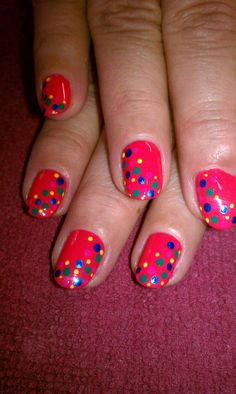 Bubble Gum!!! I just love doin poka dots!!  Jan, 2012