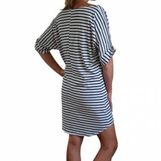 Good For The Beach?      Batwing cover up dress in black & white stripe - hardtofind.  Good For The Beach?