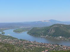 Nagymaros, Hungary at front and opposite is Visegrad Central Europe, Beautiful Places In The World, Budapest Hungary, Holiday Destinations, Holiday Travel, Homeland, Places To Travel, Tourism, 1