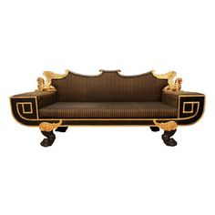 Unusual Ebonized And Giltwood Sofa In The Manner Of Thomas Hope | From a unique collection of antique and modern sofas at http://www.1stdibs.com/furniture/seating/sofas/